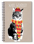 Scarf Weather Cat- Art By Linda Woods Spiral Notebook