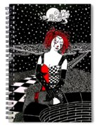 Scarlet Checkers Spiral Notebook