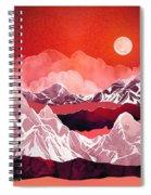 Scarlet Glow Spiral Notebook