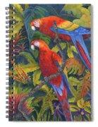 Scarlet Macaws Spiral Notebook