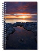 Scarlet Pools Spiral Notebook
