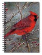 Scarlet Sentinel Spiral Notebook