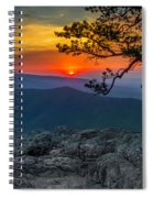 Scarlet Sky At Ravens Roost Spiral Notebook