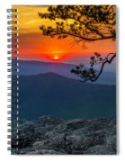 Scarlet Sky At Ravens Roost Panorama I Spiral Notebook
