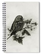 Scarlet Tanager - Black And White Spiral Notebook