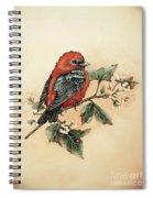 Scarlet Tanager - Vintage Spiral Notebook