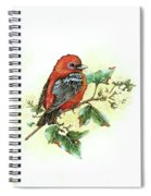 Scarlet Tanager - Summer Season Spiral Notebook