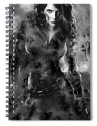 Scarlett Johansson Black Widow Spiral Notebook