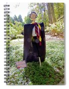 Scarry Potter Scarecrow At Cheekwood Botanical Gardens Spiral Notebook