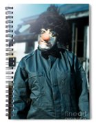 Scary Clown With Coat Spiral Notebook