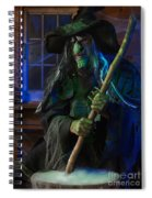 Scary Old Witch Spiral Notebook