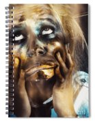 Scary Zombie Pulling Funny Face  Spiral Notebook