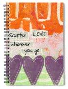 Scatter Love Spiral Notebook
