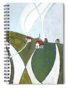 Scattered Houses Spiral Notebook