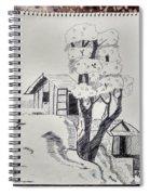 Scene Behind Rural Spiral Notebook