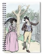 Scene From Sense And Sensibility By Jane Austen Spiral Notebook