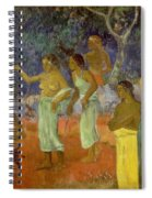 Scene From Tahitian Life Spiral Notebook