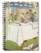 Scene From The Story Of Goldilocks And The Three Bears Spiral Notebook