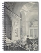 Scene In A Classical Temple  Funeral Procession Of A Warrior Spiral Notebook