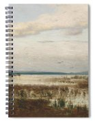 Scene Of Chiemsee, Moor Landscape Spiral Notebook