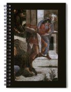 Scenes From The Life Of Moses Detail Alessandro Botticelli Spiral Notebook