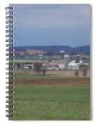 Scenic April Amish Vista Spiral Notebook