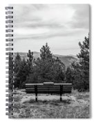 Scenic Bench In Black And White Spiral Notebook