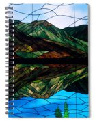 Scenic Stained Glass  Spiral Notebook