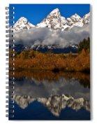 Scenic Teton Fall Reflections Spiral Notebook