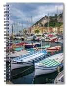 Scenic View Of Castle Hill And Marina In Nice, France Spiral Notebook