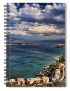 Scenic View Of Eastern Crete Spiral Notebook