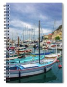 Scenic View Of Historical Marina In Nice, France Spiral Notebook