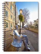 Scenic Zagreb Upper Town Walkway Spiral Notebook