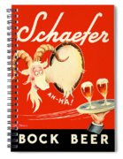Schaefer Beer Vintage Ad Spiral Notebook