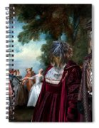 Schapendoes Art Canvas Print - Dance Before A Fountain Spiral Notebook