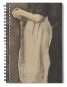 Scheveningen Woman The Hague, November - December 1881 Vincent Van Gogh 1853  189 Spiral Notebook