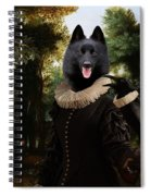Schipperke Art Canvas Print - Forest Landscape With A Hunter And Noble Lady Spiral Notebook
