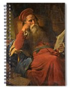 Scholar In His Study Spiral Notebook