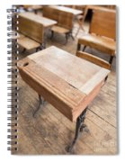 School Desks In A One Room School Building Spiral Notebook