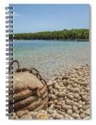 Schoolhouse Beach Washington Island Spiral Notebook
