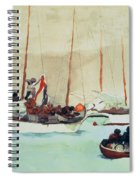 Schooners At Anchor In Key West Spiral Notebook
