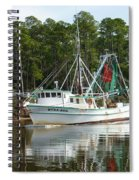 Schrimp Boat On Icw Spiral Notebook