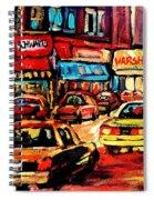 Schwartz's Deli At Night Spiral Notebook