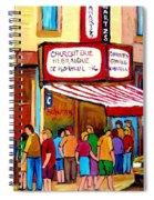 Schwartzs Hebrew Deli Montreal Streetscene Spiral Notebook