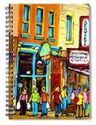 Schwartz's Hebrew Deli On St. Laurent In Montreal Spiral Notebook