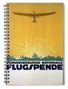 Schweizerische Nationale Flugspende - Flight Donation - Retro Travel Poster - Vintage Poster Spiral Notebook