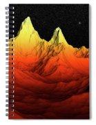 Sci Fi Mountains Landscape Spiral Notebook