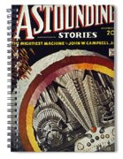 Science Fiction Cover, 1934 Spiral Notebook