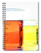 Scientific Beakers In Science Research Lab Spiral Notebook