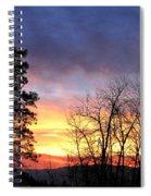 Scintillating Sunset Spiral Notebook